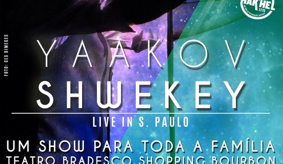 Show de Yaakov Shwekey - Domingo 19 de Junho 2016 as 15hs - Teatro Bradesco Shopping Bourbon