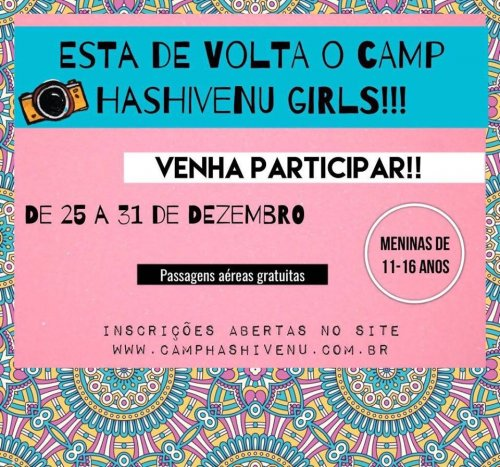 Camp Hashivenu Girls