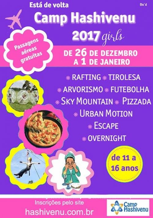 Camp Hashivenu 2017 Girls